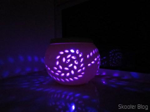 Lâmpada Decorativa com 2 LEDs, Luz Branca 1W 6 lumens 5500~6000K + RGB (Vermelha, Verde e Azul) com Padrão de Folha de Maple (Maple Pattern 1W 6lm 5500~6000K 2-LED White + RGB Light Decoration Lamp – White) - No Skooter Blog você já viu