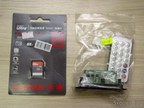 MP3 hardware decoder w / FM, Remote Controle, USB, Mini USB and SD slot and SDHC Memory Card 32GB Sandisk Ultra Class 32GC10 10 Genuine