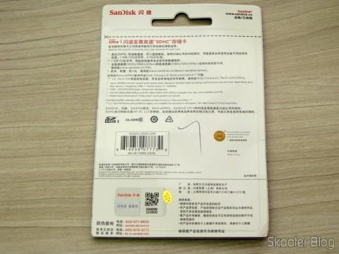 Cartão de Memória SDHC 32GB Sandisk Ultra 32GC10 Classe 10 Genuíno (Genuine SanDisk Ultra 32GC10 SDHC Memory Card – Black (32GB / Class 10)) em sua embalagem