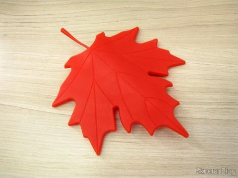 Para-Porta Estilo Folha de Maple Vermelho (Maple Leaf Style Door Stopper Guard - Red)