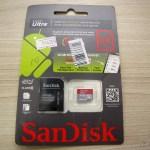 Cartão de Memória Sandisk Genuíno Micro SDXC / TF c/ Adaptador SD 64GB Classe 10 (Genuine SanDisk Micro SDXC / TF Memory Card w/ SD Card Adapter – Grey + Red (64GB / Class 10)), em sua embalagem