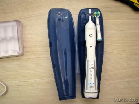 Estojo de Viagem da Escova de Dentes Elétrica Recarregável Oral-B Professional Healthy Clean + Floss Action Precision 5000 (Oral-B Professional Healthy Clean Floss Action Precision 5000 Rechargeable Electric Toothbrush(packaging may vary))