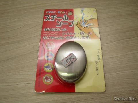 Removedor de Odores para Mão/Palma em Aço Inoxidável, Dura para Sempre (Stainless Steel Hand/Palm Odor Remover (Lasts Forever)), em sua embalagem