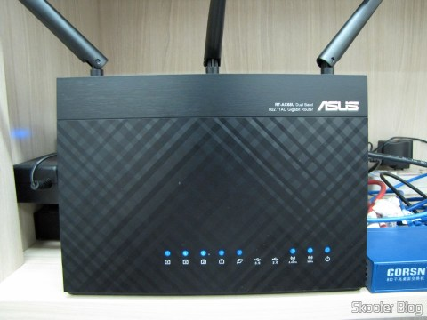Roteador ASUS RT-AC68U Dual Band Gigabit Router 802.11ac Wireless-AC1900, operation