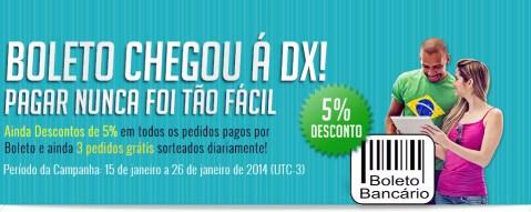 Promoção da DX: 5% de Desconto nos Pagamentos através de Boleto Bancário