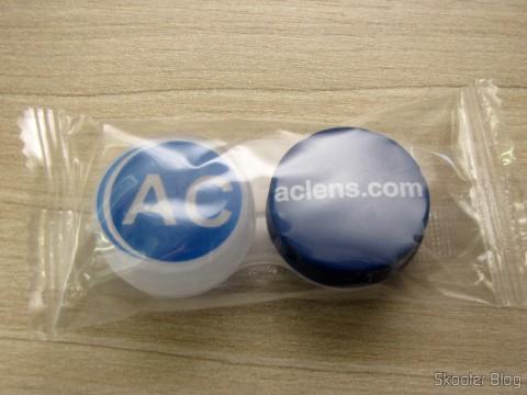 Estojinho para armazenar um par de lentes de contato, brinde da AC Lens