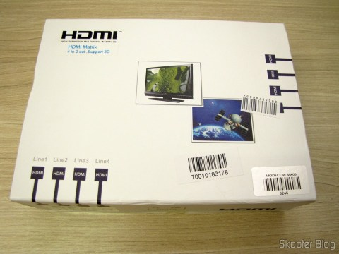 Matriz 1080p HDMI-LINK MI LM-MX03 - 4 Articles / 2 Outputs (LINK MI LM-MX03 1080p HDMI Matrix - Black (4-In / 2-Out)), on its packaging