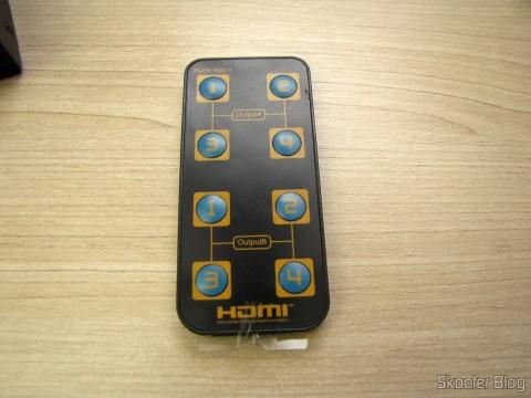Controle Remoto da Matriz HDMI 1080p LINK-MI LM-MX03 - 4 Entradas / 2 Saídas (LINK-MI LM-MX03 1080p HDMI Matrix - Black (4-In / 2-Out))