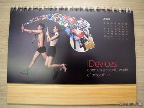 Calendário de Mesa da DX 2014 com Cupons de Desconto nos 12 meses, totalizando US$ 237,00 (DX 2014 Desk Calendar with 12 Months' Coupon Codes (Value USD$ 200)): Mês de Abril