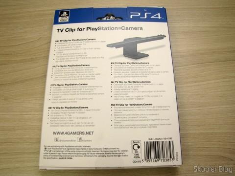 Clip para a Câmera do Playstation 4 (PS4) Oficial Licenciado 4Gamers (Officially Licensed Clip for Playstation 4 Camera (PS4) (4GAMERS)), em sua embalagem