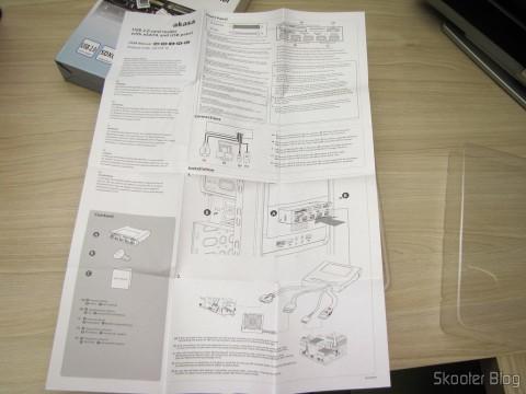 Manual de Instruções do Painel Mutifuncional Akasa com 2 Portas USB 3.0, 3 Portas USB 2.0, eSATA, e Leitor de Cartões (Akasa Multifunction Panel 3-Port USB 3.0 + 2-Port USB 2.0 Hub + ESATA + Card Reader Combo - Grey)