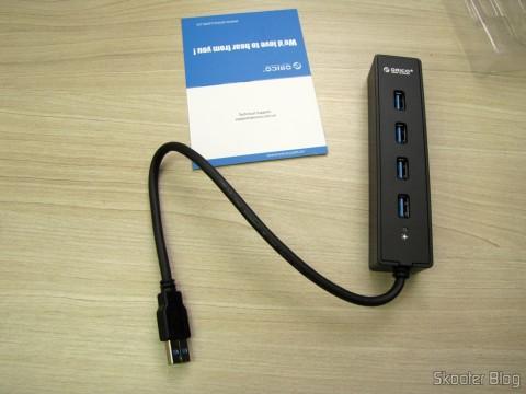 Hub USB 3.0 with 4 portas ORICO W8PH4-U3 (ORICO W8PH4-U3 4-HUB USB 3.0 Hub - Black)