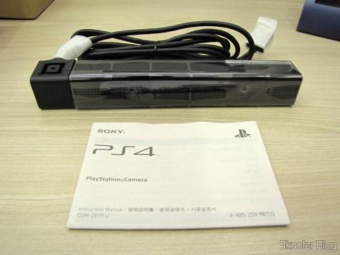 Câmera do Playstation 4 (Playstation 4 Camera) e manual de instruções