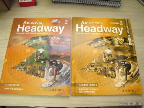 Os livros American Headway 2 Student Book & CD Pack e American Headway 2 Workbook (Spotlight on Testing)