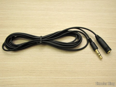 Cable Extender Audio 3.5mm (P2 female - P2 male) from 2 meters (3.5mm Extension Audio Cable - Black (2M-Length))