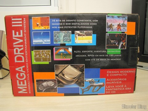 Back of the Mega Drive III Tec Toy Box