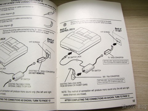 Wiring diagram of the Super Nintendo, with optional items