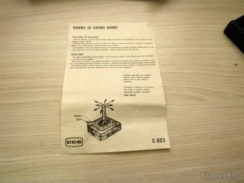 Manual do Cartucho Bobby is Going Home do Atari 2600