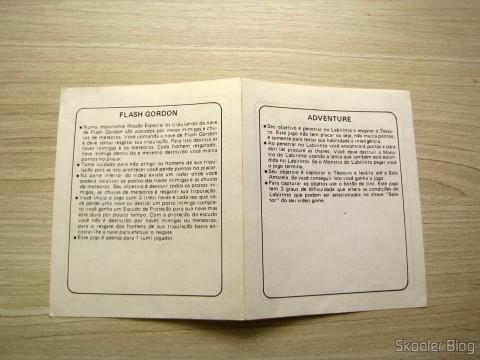 Manual de Flash Gordon e Adventure