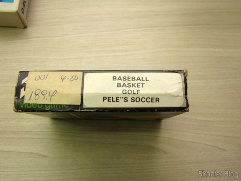 Cartridge Box 4 Dactar games with Baseball, Basket, Golf e Pele's Soccer