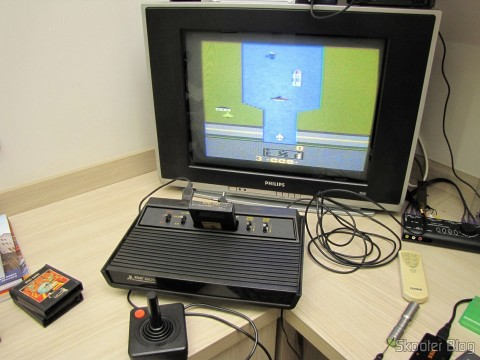 Atari 2600 up with the River Raid game