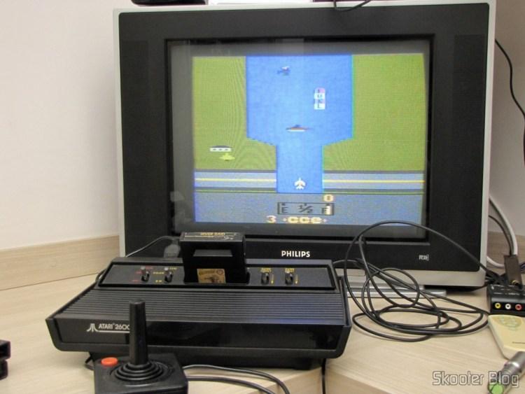 Atari 2600 up with the River Raid game