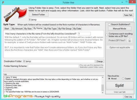 Folder Axe, o software que facilita o trabalho de dividir as ROMs em subdiretórios