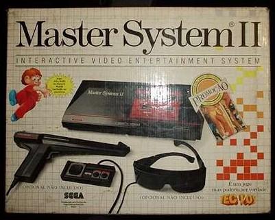Master System II da Tec Toy, com Alex Kidd na memória e cartucho Jogos de Verão (California Games) de brinde