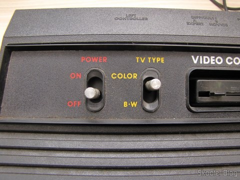 Detail of the keys Power and TV Type of Atari 2600 the Polyvox
