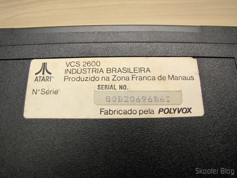 Polyvox label with the number of Atari series 2600