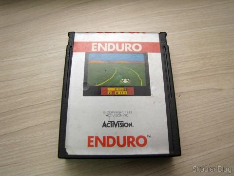 Cartucho Enduro que acompanha o Atari 2600
