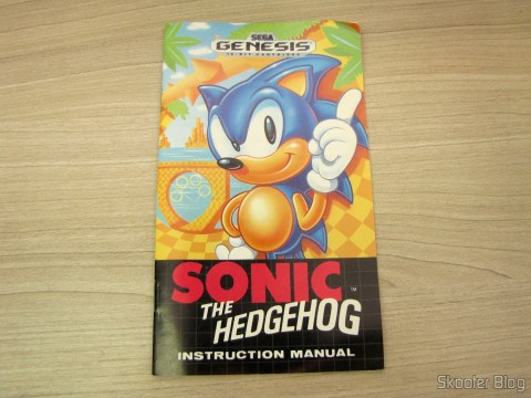 Manual do Sonic The Hedgehog do Sega Genesis