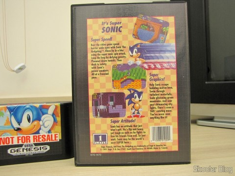 Cartucho Sonic The Hedgehog do Sega Genesis