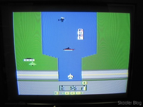 River Raid on the Atari VCS / 2600 through the composite video output