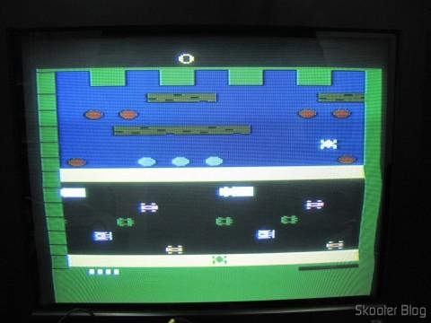 Frogger on Atari VCS / 2600 through the composite video output