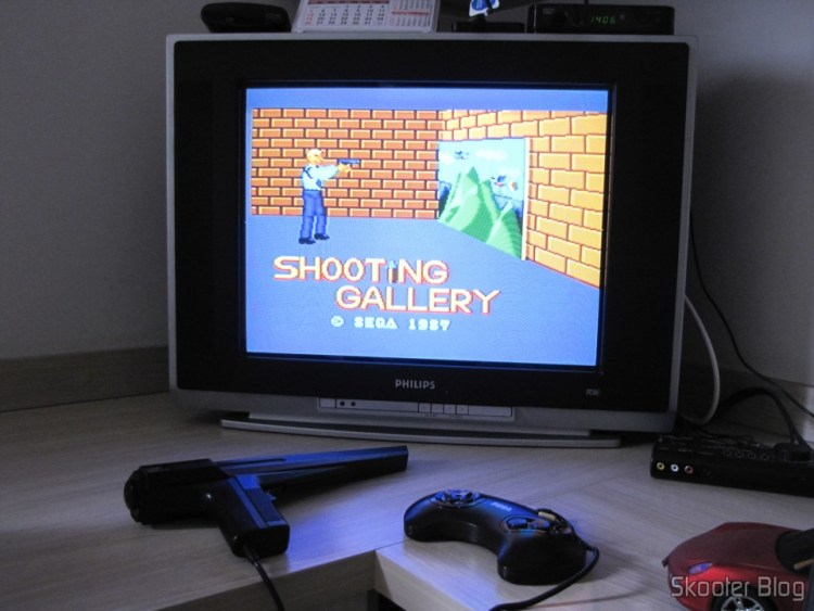 The Mega Drive III up with the Master System games that use the Light Phaser Gun