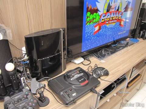 Sega Genesis now on the rack, by the Playstation 3