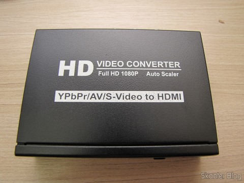 Conversor de Video Componente (YPbPr), S-Video, Video Composto (CVBS) e Áudio Estéreo para HDMI (YPbPr + CVBS + S-video to HDMI Video Converter - Black (100~240V))