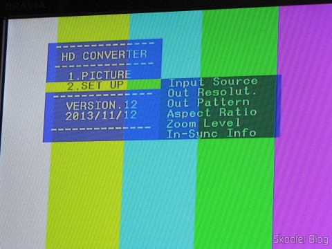 Menus on Component Video Converter Screen (YPbPr), S-Video, Composed Video (CVBS) and Stereo Audio to HDMI (YPbYPbPrCVBCVBSS-video to HDMI Video Converter - Black (100~ 240V))