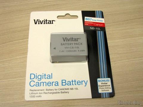 Bateria NB10-L da Vivitar do Pacote Definitivo 32GB com Cartão de Memória SD de 32GB, Bolsa, Bateria NB-10L, Carteira de Cartões de Memória, Leitor de Cartões SD USB, Mini Tripé, Cabo A/V Mini-HDMI para HDMI, Protetores de tela LCD, e Kit de Limpeza de Lentes