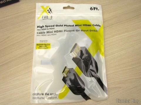 Cabo mini-HDMI para HDMI do Pacote Definitivo 32GB com Cartão de Memória SD de 32GB, Bolsa, Bateria NB-10L, Carteira de Cartões de Memória, Leitor de Cartões SD USB, Mini Tripé, Cabo A/V Mini-HDMI para HDMI, Protetores de tela LCD, e Kit de Limpeza de Lentes