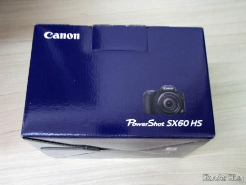 Câmera Digital Canon PowerShot SX60 HS, em sua embalagem
