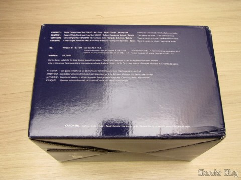 Digital Camera Canon PowerShot SX60 HS, on its packaging