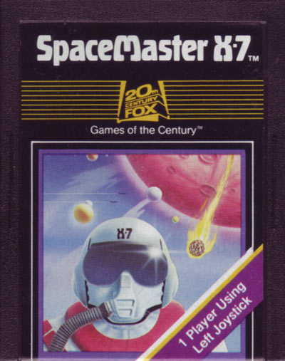 O cartucho do SpaceMaster X-7, nome original do jogo da 20th Century Fox / Fox Video Games