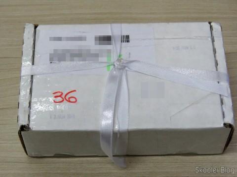 Caixa da Perfume Emporium com o Armani 3.4 oz EDT Spray
