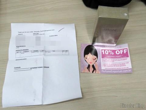 Perfume Emporium box with Armani 3.4 oz EDT Spray