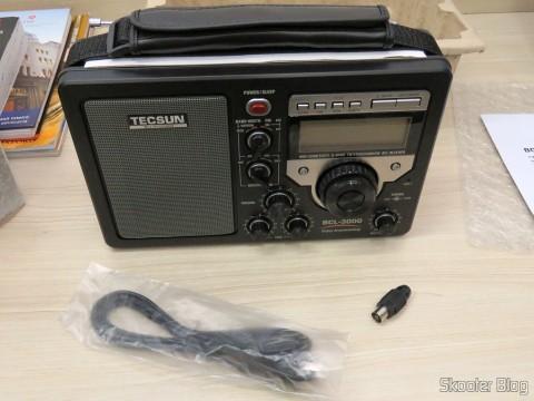 Rádio Tecsun BCL-3000 com Sintonizador Analógico e Display Digital AM/FM/SW Mundial e acessórios