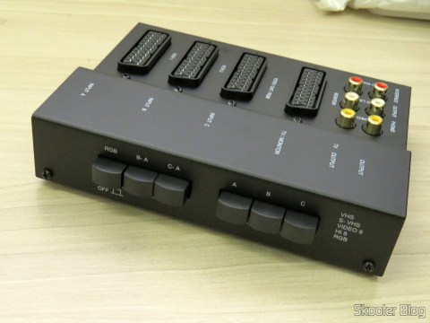 SCART RGB Switch metal case with 3 inputs and 1 output