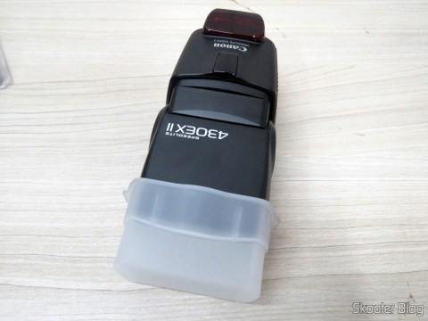 Flash Diffuser for Canon Speedlite 430EX II Flash engaged in