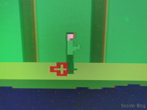 Detalhe do Pitfall II no Atari 2600 via Framemeister